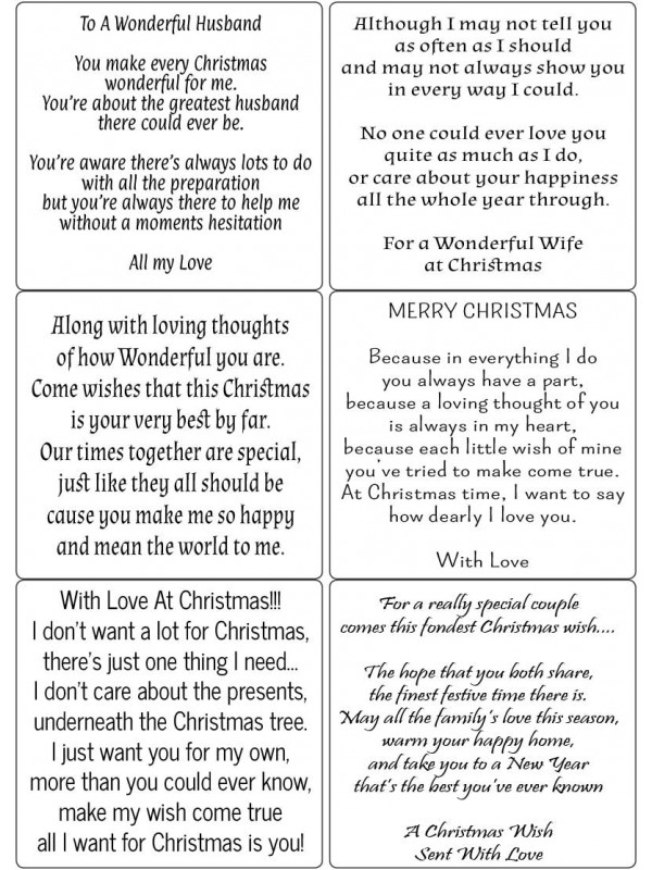 Easy Peel To The One I Love at Christmas Verses