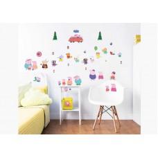 Easy Peel Walltastic Room Stickers - Peppa Pig