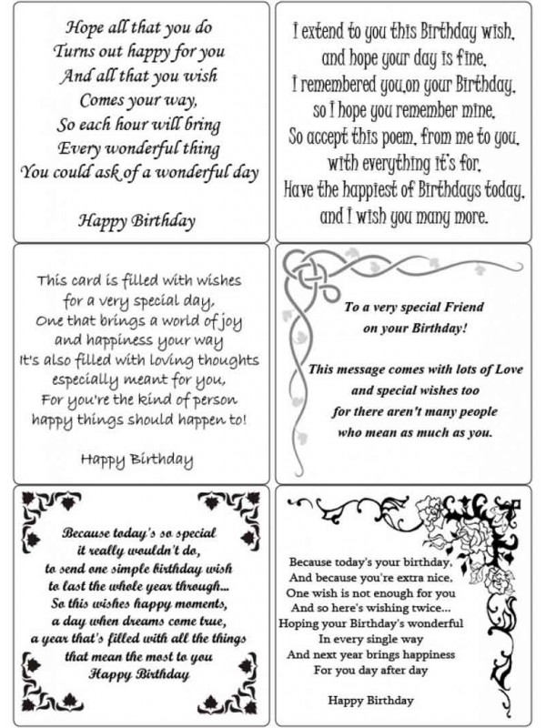 Easy Peel Birthday Verses 1