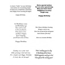 Easy Peel Birthday Verses 2