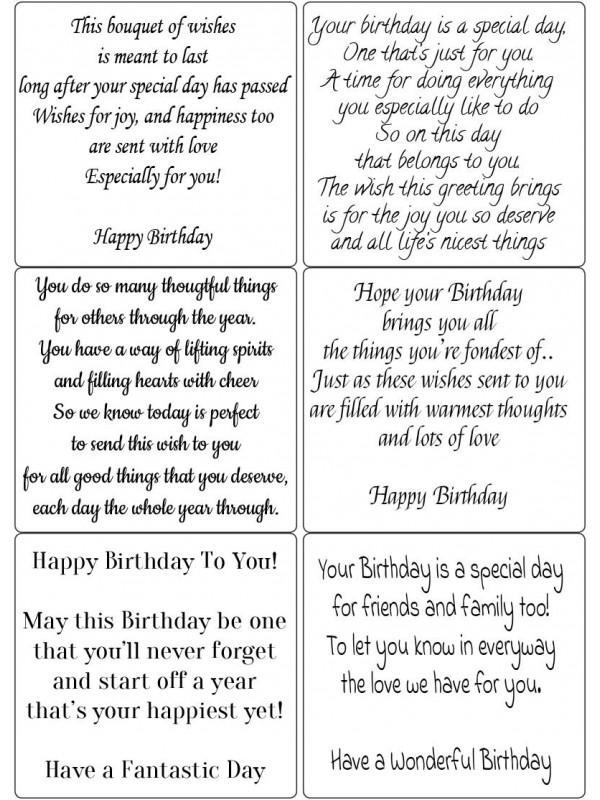 Easy Peel Birthday Verses 3