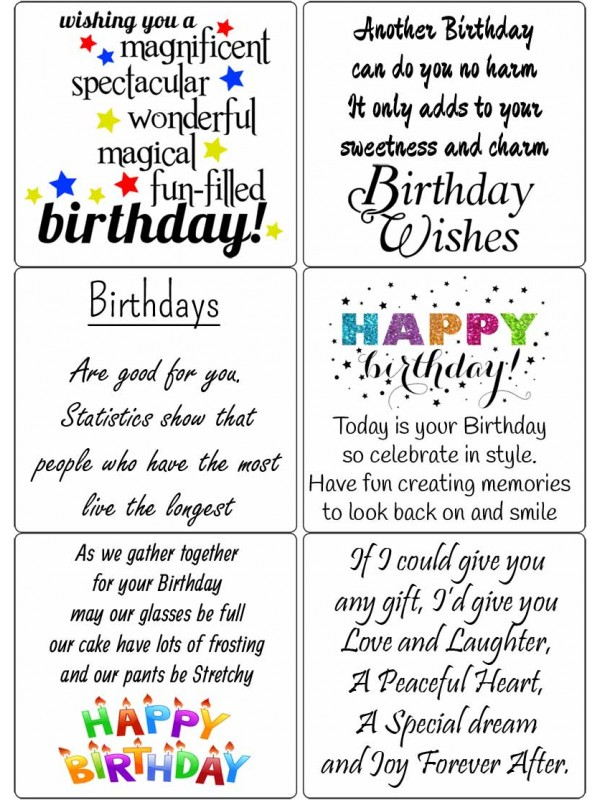 Easy Peel Birthday Sentiments 2