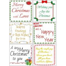 Easy Peel Christmas Sentiments 2