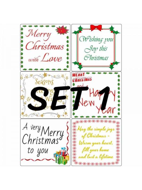 Easy Peel Christmas Verses Set 1