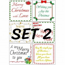 Easy Peel Christmas Verses Set 2