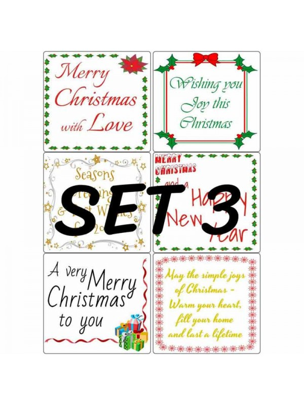 Easy Peel Christmas Verses Set 3