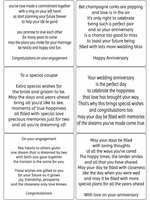 Easy Peel Engagement, Wedding, Anniversary Verses 2
