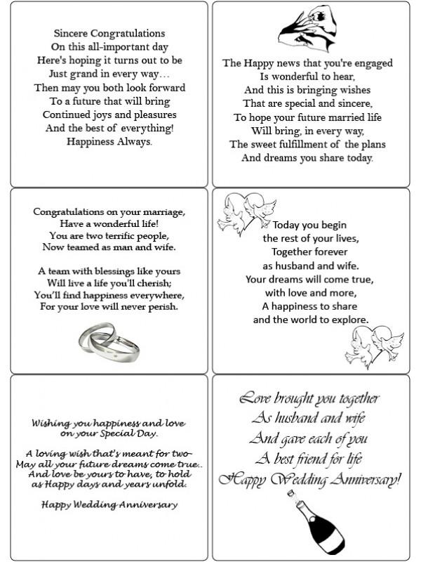 Easy Peel Engagement, Wedding, Anniversary Verses 1