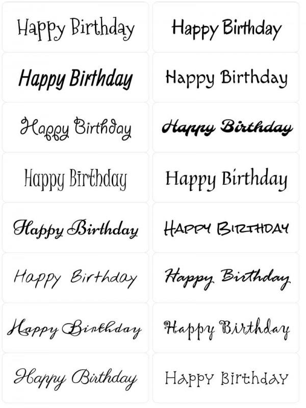 Easy Peel Happy Birthday 2