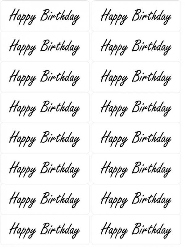 Easy Peel Happy Birthday 1