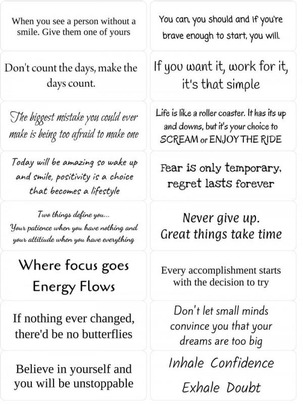 Easy Peel Inspirational Quotes